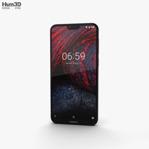 Nokia 6.1 Plus Black - 3DOcean Item for Sale