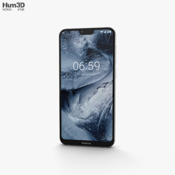 Nokia 6.1 Plus White - 3DOcean Item for Sale