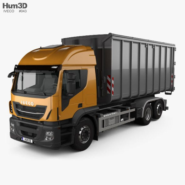 Iveco Stralis X-WAY Hook Lifter Truck 2017 - 3DOcean Item for Sale