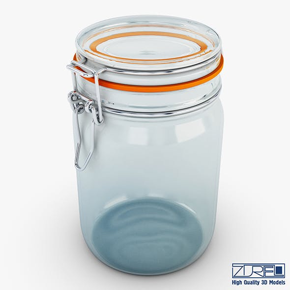 Jar herm Fido 1 liter - 3DOcean Item for Sale