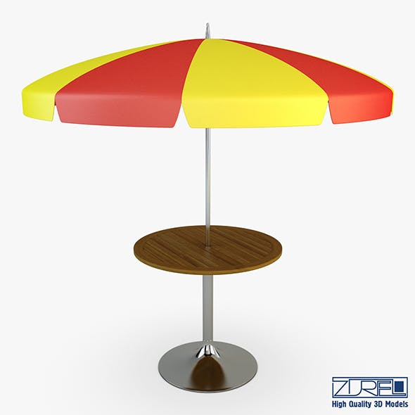 Patio table with umbrella v 2 - 3DOcean Item for Sale
