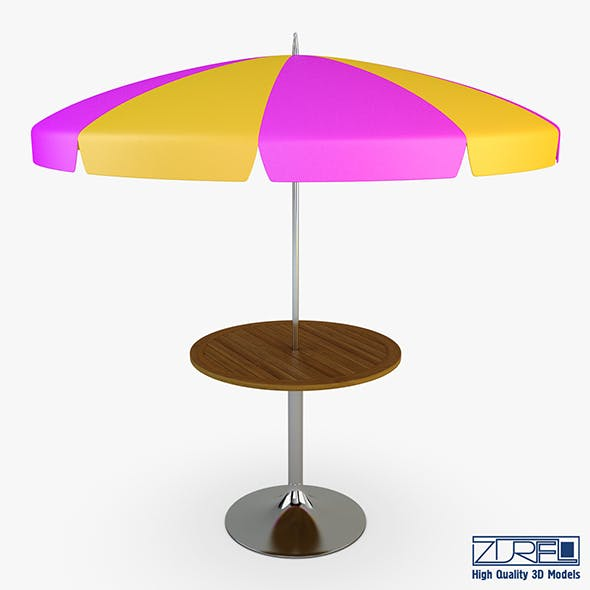 Patio table with umbrella v 3 - 3DOcean Item for Sale
