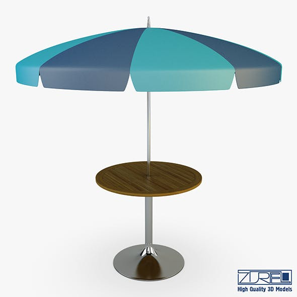 Patio table with umbrella v 4 - 3DOcean Item for Sale