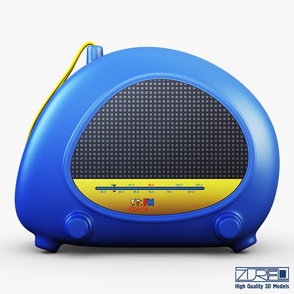 Kids radio toy - 3DOcean Item for Sale