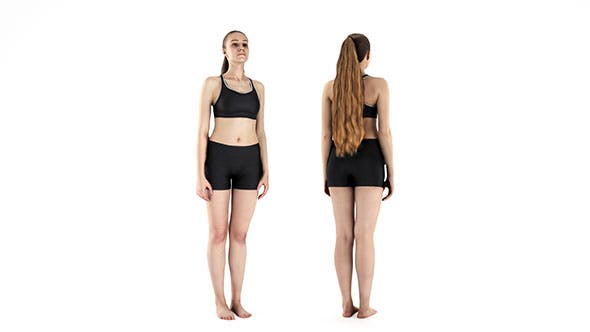 Woman in sports standing 62 - 3DOcean Item for Sale