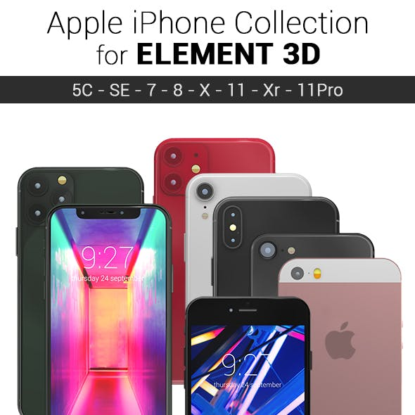Element 3D - Apple Iphones Collection