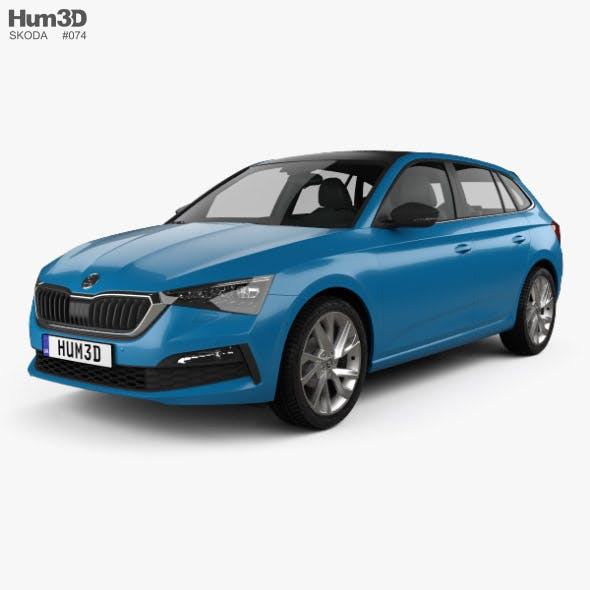 Skoda Scala 2019 - 3DOcean Item for Sale