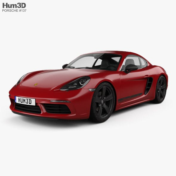 Porsche Cayman 718 T 2018 - 3DOcean Item for Sale