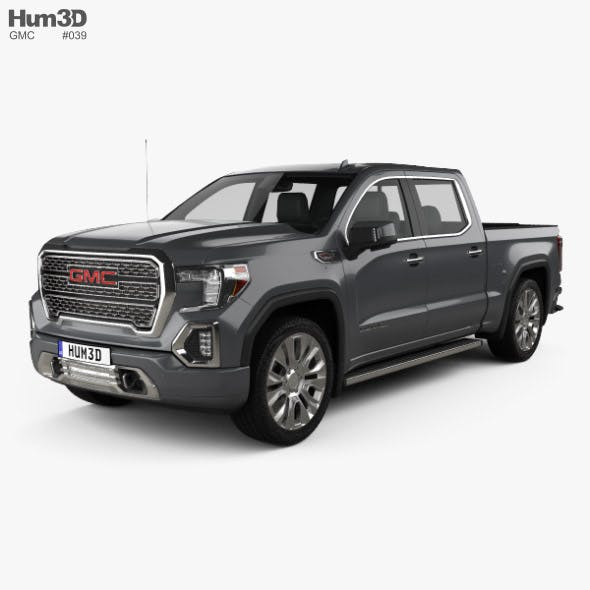 GMC Sierra 1500 Crew Cab Short Box Denali 2019 - 3DOcean Item for Sale