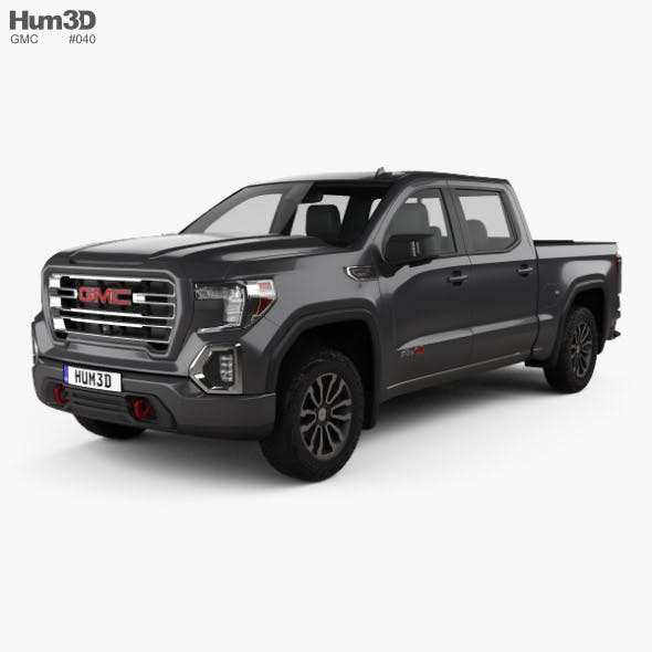 GMC Sierra 1500 Crew Cab Short Box AT4 2019 - 3DOcean Item for Sale