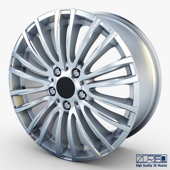 Style 345M wheel silver Mid Poly - 3DOcean Item for Sale