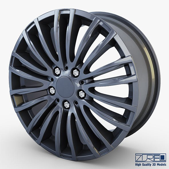 Style 345M wheel ferric gray Mid Poly - 3DOcean Item for Sale