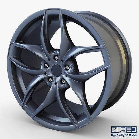 Style 215 wheel ferric gray Mid Poly - 3DOcean Item for Sale