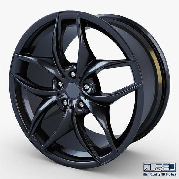 Style 215 wheel black Mid Poly - 3DOcean Item for Sale