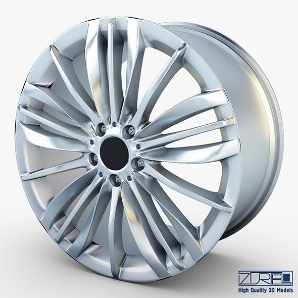Style 332 wheel silver Mid Poly - 3DOcean Item for Sale