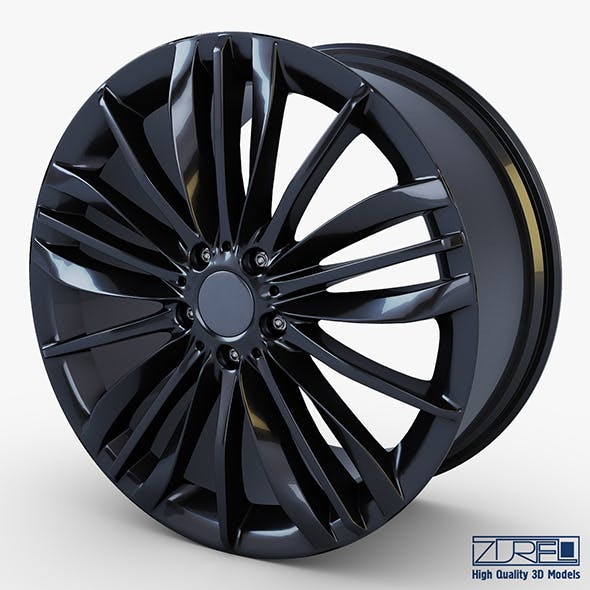 Style 332 wheel black Mid Poly - 3DOcean Item for Sale