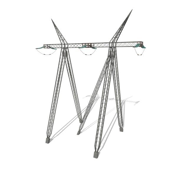 Electricity Pole 11 - 3DOcean Item for Sale