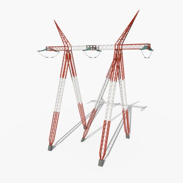 Electricity Pole 12 - 3DOcean Item for Sale