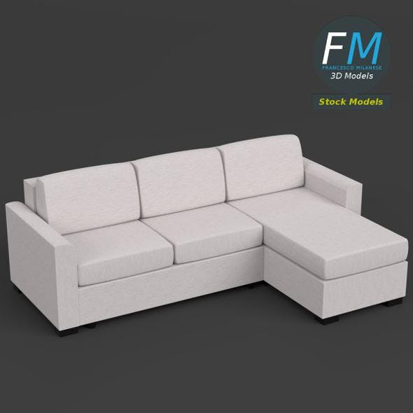 Angular couch sofa - 3DOcean Item for Sale