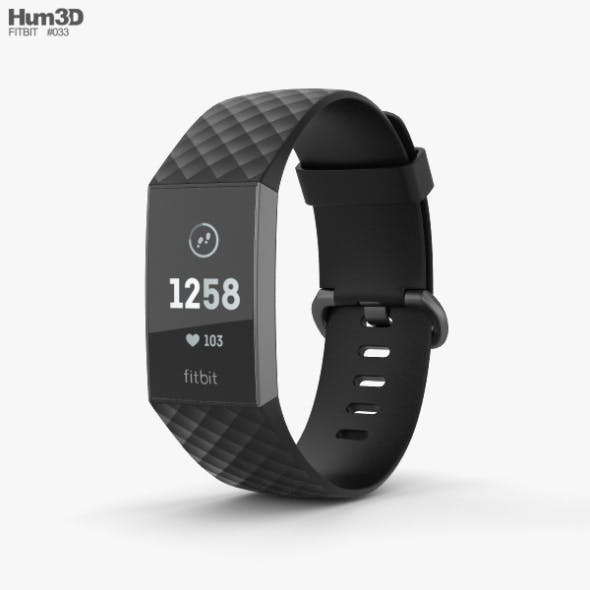 Fitbit Charge 3 Black - 3DOcean Item for Sale