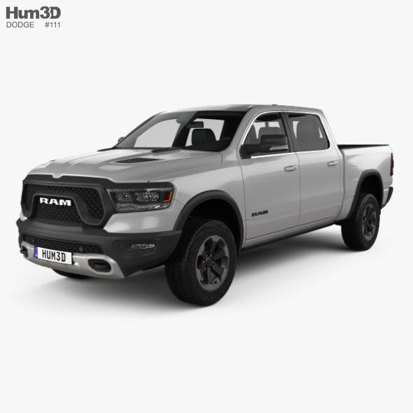 Dodge Ram 1500 Crew Cab Rebel 5-foot 7-inch Box 2019 - 3DOcean Item for Sale