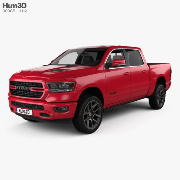 Dodge Ram 1500 Crew Cab Sport 5-foot 7-inch Box 2019 - 3DOcean Item for Sale