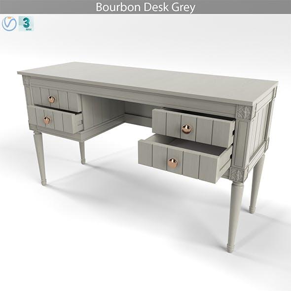 MADE Bourbon Desk Grey - 3DOcean Item for Sale