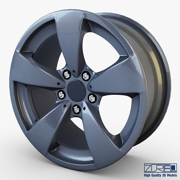 Style 138 wheel ferric gray Mid Poly - 3DOcean Item for Sale