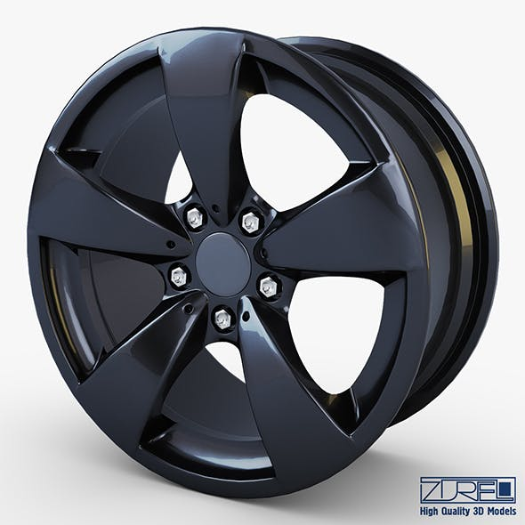 Style 138 wheel black Mid Poly
