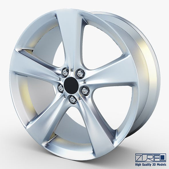 Style 128 wheel silver Mid Poly - 3DOcean Item for Sale