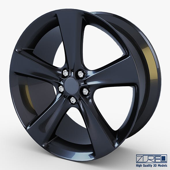 Style 128 wheel black Mid Poly