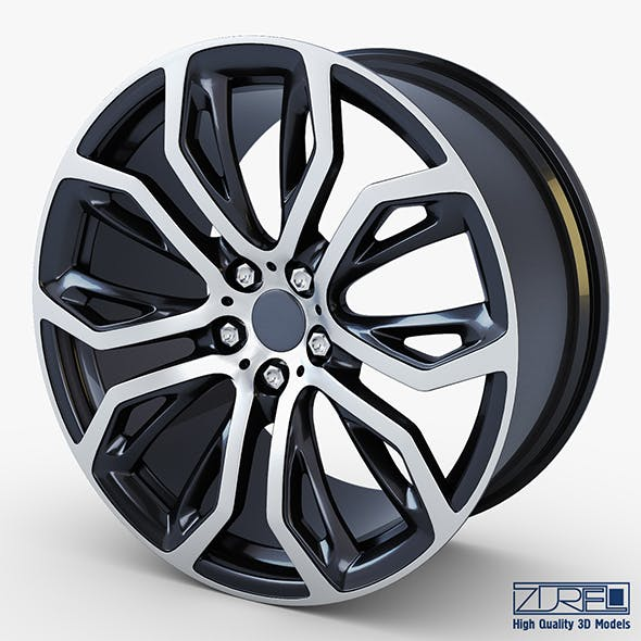 Style 375 wheel black Mid Poly - 3DOcean Item for Sale
