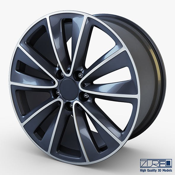 Style 247 wheel ferric gray Mid Poly - 3DOcean Item for Sale