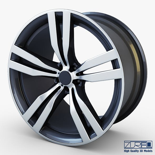 Style 300 wheel ferric gray Mid Poly - 3DOcean Item for Sale