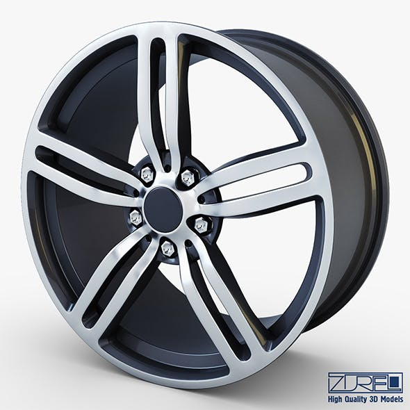 Style 167 wheel ferric gray Mid Poly - 3DOcean Item for Sale