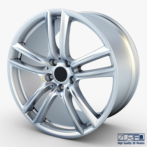 Style 303 wheel silver Mid Poly - 3DOcean Item for Sale