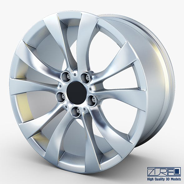 Style 227 wheel silver Mid Poly - 3DOcean Item for Sale