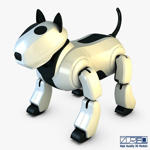 Genibo Robot Dog white - 3DOcean Item for Sale
