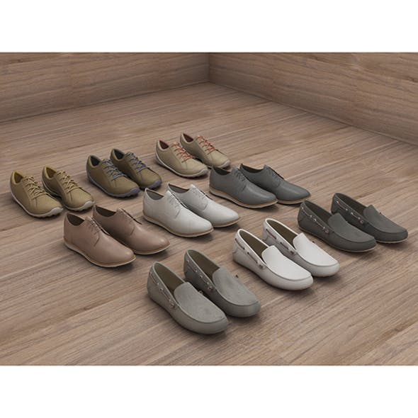 Fashion Leather Shoes - 3DOcean Item for Sale