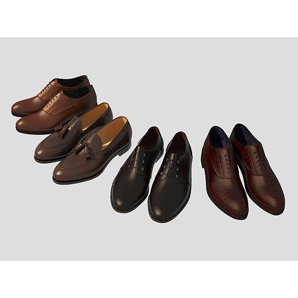 Fashion Leather Shoes 2 - 3DOcean Item for Sale