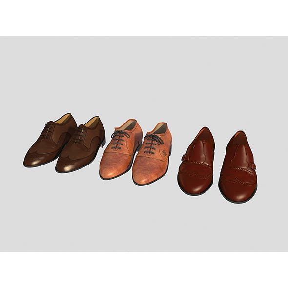 Leather Shoes - 3DOcean Item for Sale