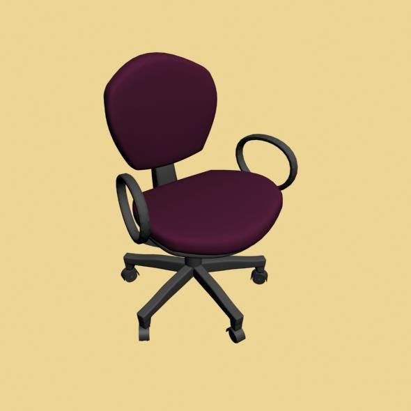 Office Chair 3D - 3DOcean Item for Sale