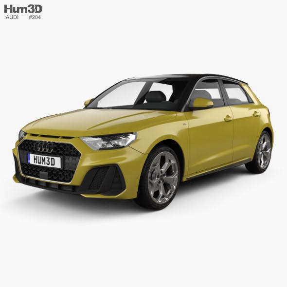 Audi A1 Sportback S-line 2018 - 3DOcean Item for Sale
