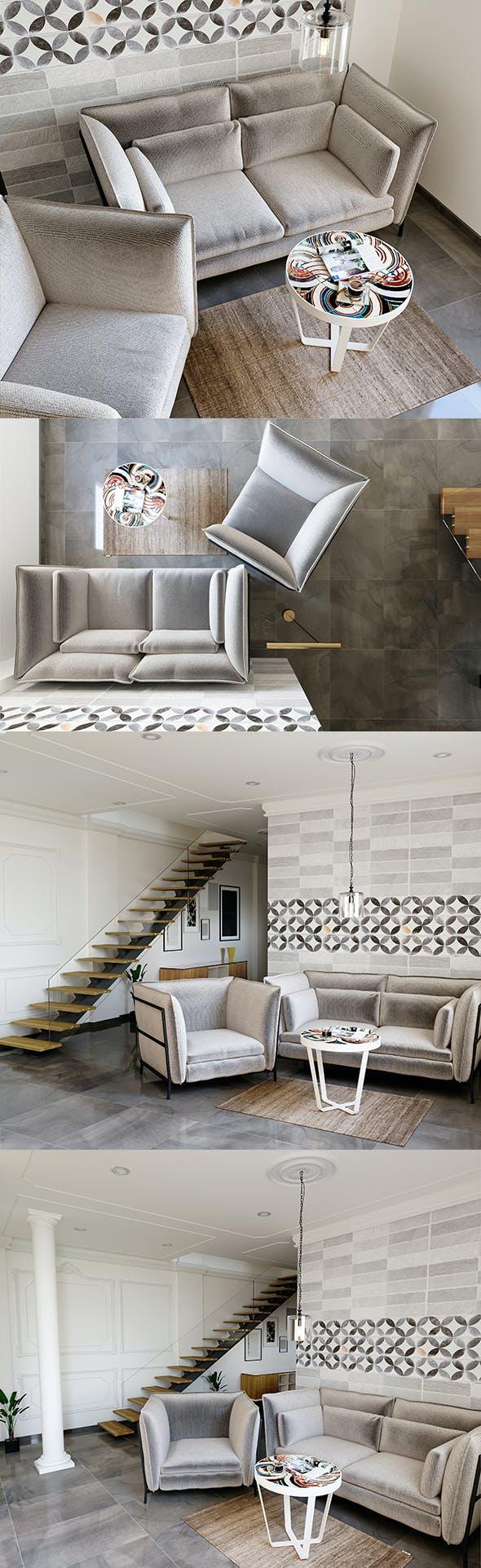 Living Room - 3DMax for CoronaRender - 3DOcean Item for Sale