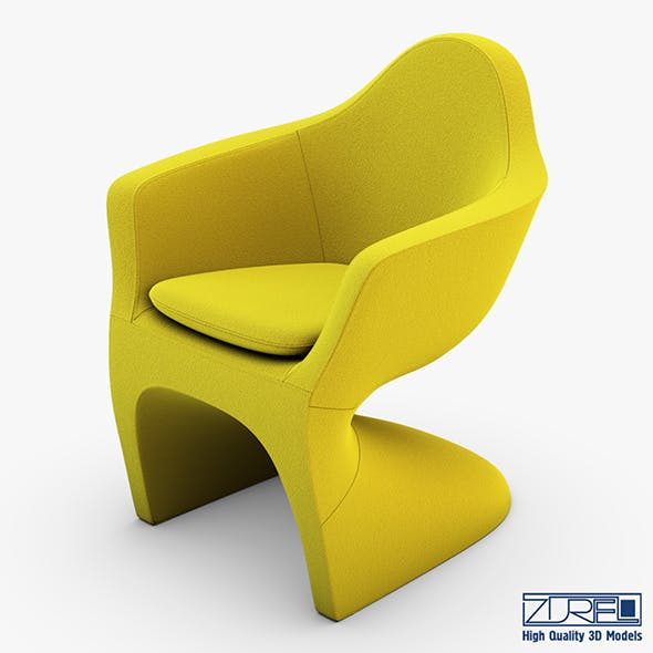 Lotem chair yellow - 3DOcean Item for Sale