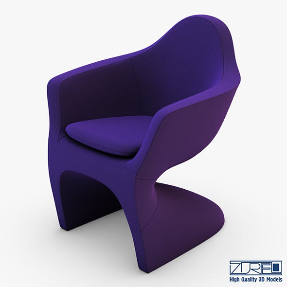 Lotem chair purple - 3DOcean Item for Sale