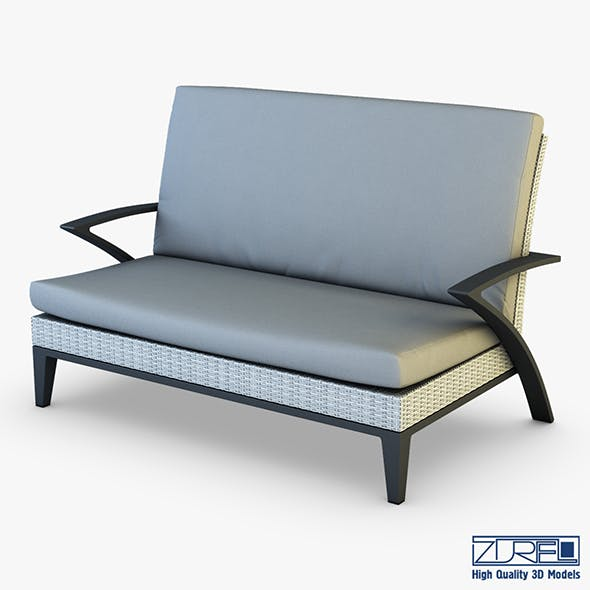 Rexus sofa white - 3DOcean Item for Sale
