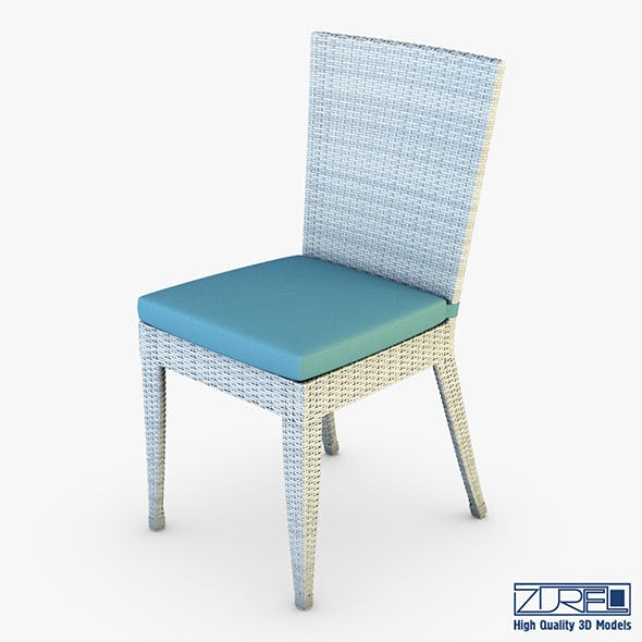 Rexus chair white v 1 - 3DOcean Item for Sale