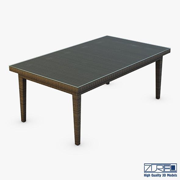 Rexus dining table brown - 3DOcean Item for Sale