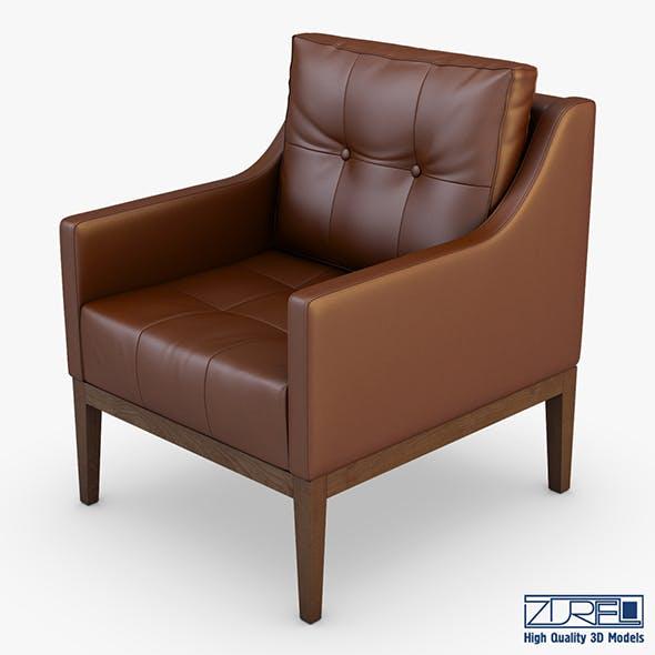Carmen armchair brown - 3DOcean Item for Sale